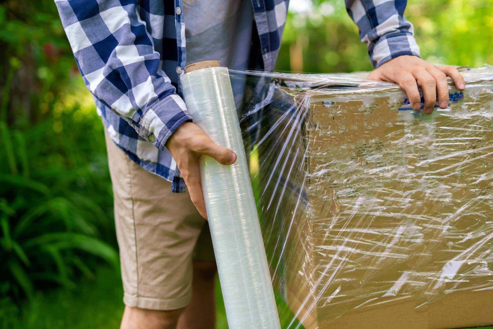 màng co PE được sử dụng nhiều khi vận chuyển hàng hoá