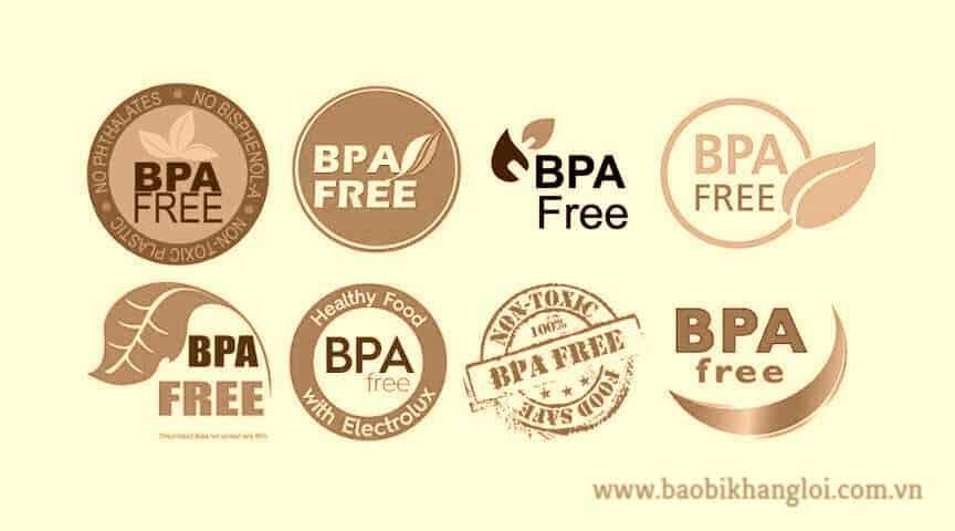 một số biểu tượng thể hiện sản phẩm nhựa không có chứa BPA