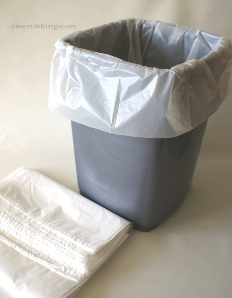 túi nilon size lớn cũng có thể dùng để lót trong vật chứa có dạng khối hộp