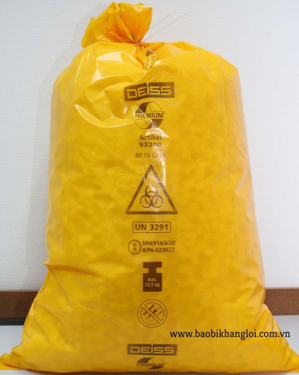túi rác màu vàng dùng để chứa chất thải có thể tái chế